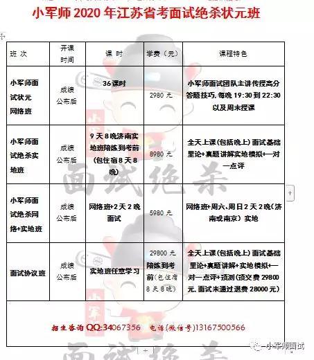「速看!2020年江苏省考面试时间已定!」小军师面试考试资讯推送